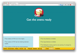 CakePHP 3.0.0 modern screen